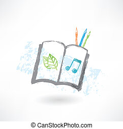 Sketch book grunge icon