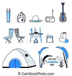 Sketch Camping Elements Set