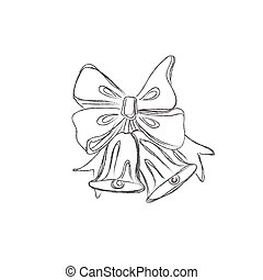 Christmas bells - sketch, Christmas bells, jingle bells, ...