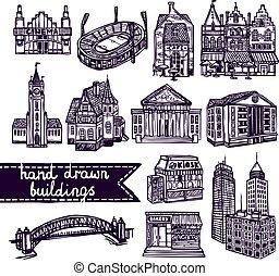 Sketch city building set