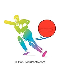 sketch cricket player design - creative sketch cricket...