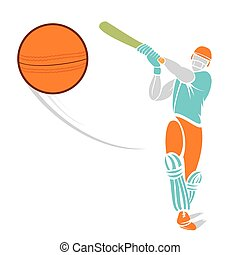 sketch cricket player design - sketch cricket player hit the...