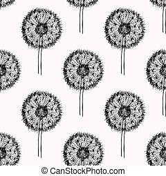 Sketch dandelion pattern