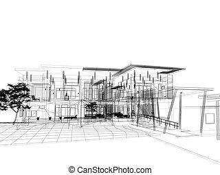 sketch design of house