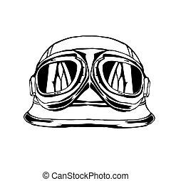 Sketch design of illustration helmet