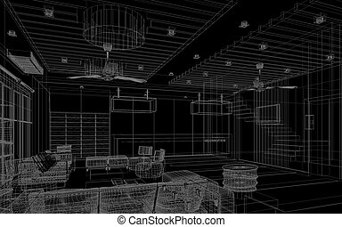 sketch design of lobby