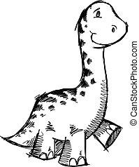 sketch Dinosaur Animal Vector