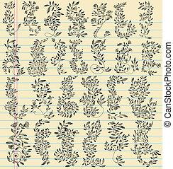 Sketch Doodle Flower Vector Set