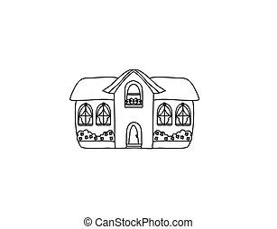 Sketch Doodle House Vector Illustration