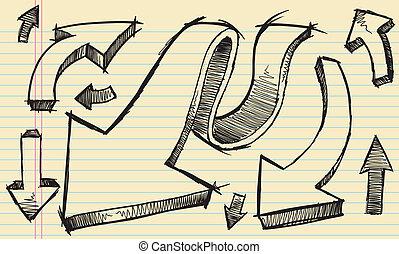 Sketch Doodle Vector set