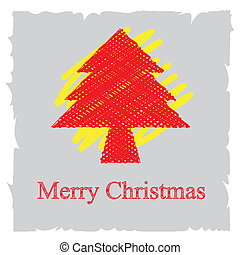 sketch drawing christmas background design