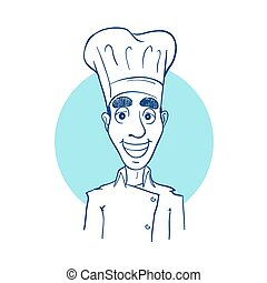 Sketch drawing of a chef