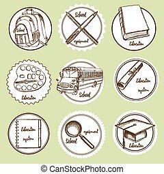 Sketch education logos