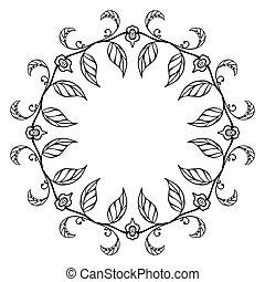Sketch floral ornament