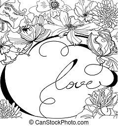 Sketch flowers