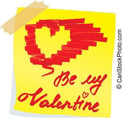 Sketch for Valentine`s Day design