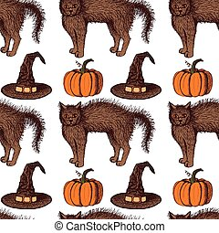 Sketch Halloween pattern