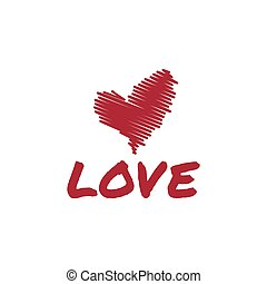 sketch heart love