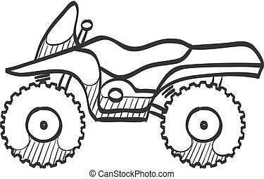 Sketch icon - All terrain vehicle