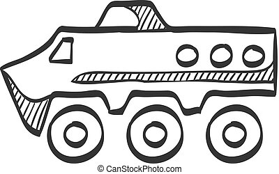 Sketch icon - Armored vehicle