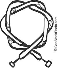 Sketch icon - Bicycle cable - Bicycle cable icon in doodle...