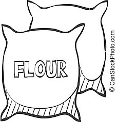 Sketch icon - Flour sack