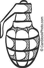 Sketch icon - Grenade