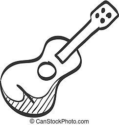 Sketch icon - Guitar