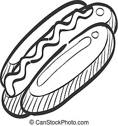 Sketch icon - Hot dog