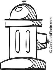 Sketch icon - Hydrant - Hydrant icon in doodle sketch lines....