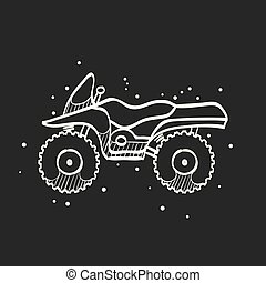 Sketch icon in black - All terrain vehicle