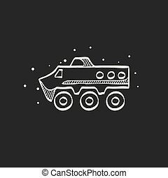 Sketch icon in black - Armored vehicle