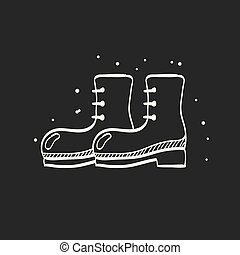 Sketch icon in black - Boot