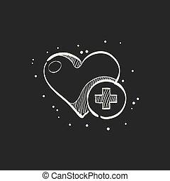 Sketch icon in black - Favorite