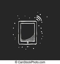 Sketch icon in black - Tablet PC