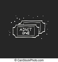 Sketch icon in black - Ticket