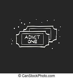 Sketch icon in black - Ticket
