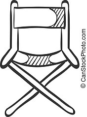 Sketch icon - Movie director chair