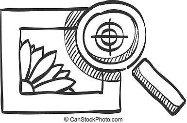 Sketch icon - Printing quality control
