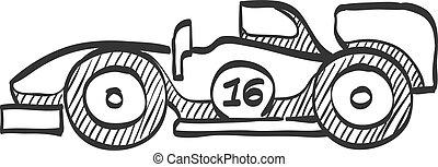 Sketch icon - Race car