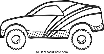 Sketch icon - Rally car