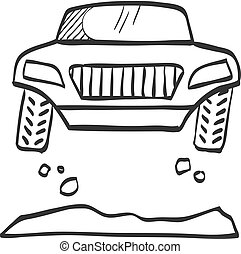 Sketch icon - Rally car