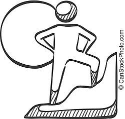Sketch icon - Rock climbing