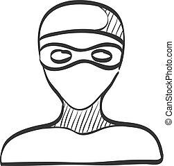 Sketch icon - Swimming athlete