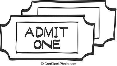 Sketch icon - Ticket