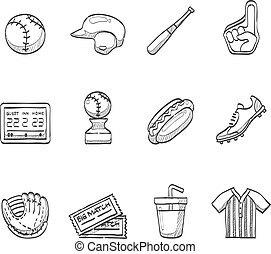 Sketch Icons - Baseball