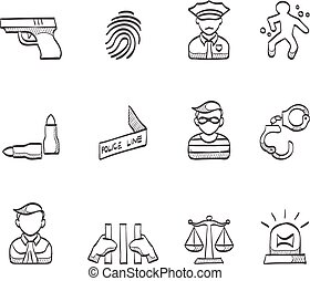 Sketch Icons - Crime