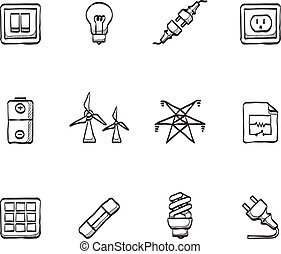 Sketch Icons - Electricity