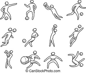 Sketch icons Football players