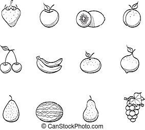 Sketch Icons - Fresh Fruits